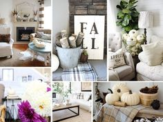 from left: one, two, three, four, five, six I've been itching to decorate with neutral shades this fall, and happily found lots of inspirational images on Pinterest! Any time that I'm going to decorat