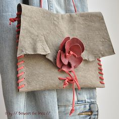 DIY cute bag with some leather scraps