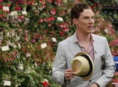Benedict Cumberbatch attends the media day at the Chelsea Flower Show in London, May 192014