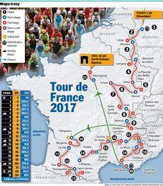 Tour de France 2017 - mapa trate