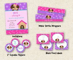 Puppy Dog - DIY Printable Birthday Party Package Party Pack. $30.00, via Etsy.