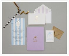 pastel wedding invitation - beautiful colour palette