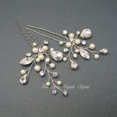 Bridal Hair Accessories Wedding Rhinestone Hairpins by xinxinemin Etsy $51