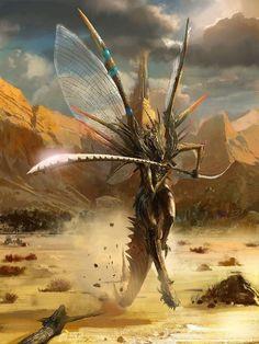 Image IMG 7415 in Fantasy album Monster Art, Fantasy Monster, Alien Creatures, Mythical Creatures, Fantasy Artwork, Fantasy World, Dark Fantasy, Fantasy Races, Creature Concept
