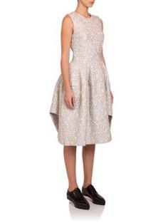 Simone Rocha Metallic Cloque Jacquard Dress   Clothing