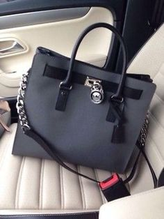 #Michael #Kors #Outlet Go For Michael Kors Hamilton Slouchy Medium Black Satchels, This Is A Wonderful For You!