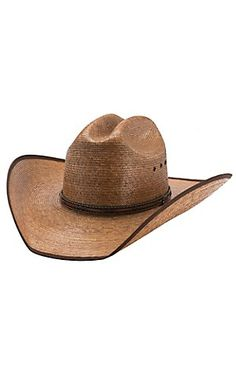 77f539d2ff1 Justin Bent Rail Buck Up Dark Palm Leaf Bound Edge Cowboy Hat Western Look