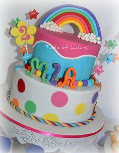 Rainbow Cake by Taste of Luxury, via Flickr