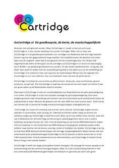 Wat is GoCartridge en waar staan we voor?