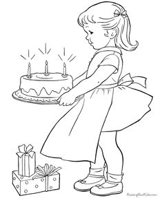 birthday coloring pages for kid - Kids Coloring Activities