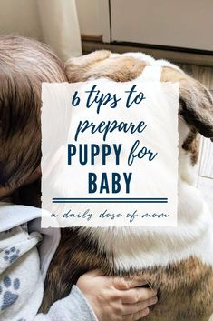You've got everything ready for baby, from the decorated nursery to the packed hospital bag. But is your fur baby ready? Read these tips to help prepare you and you and your puppy before baby comes! #puppy #baby #pregnancy #motherhood #mansbestfriend