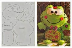 How to cute frog toy with printable patterns thumb Fabric Toys, Felt Fabric, Paper Toys, Frog Crafts, Cute Frogs, Felt Patterns, Sewing Toys, Felt Diy, Animal Crafts