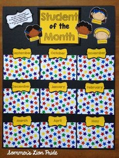 Make Your Own Student of the Month poster! $