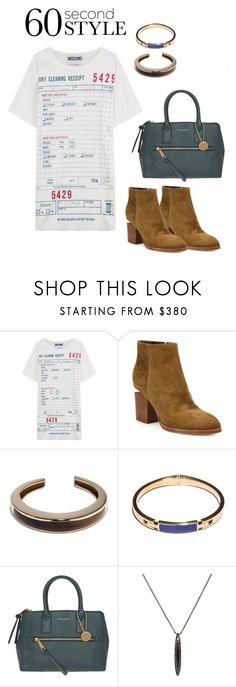 """""""60 Second Style"""" by windrasiregar on Polyvore featuring Moschino, Alexander Wang, Pamela Love, Marc Jacobs and Monique Péan"""