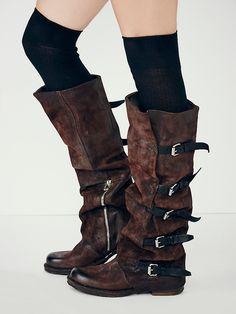 Tatum Over the Knee Boot | Equestrian inspired tall boots with beautiful tonal leathers. Gorgeous wrap design goes all the way up calf and features leather buckles. Facing side zips.   *By A.S.98   *A.S.98 creates inspired, dynamic bags and footwear, handmade with a focus on details and craftsmanship. This is a collection for the confident and authentic, the lovers and dreamers, the woman creating her own paths and living by her own rules. A global style influencer, A.S.98  allows for…