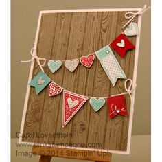Stampin' Up! - Carol Lovenstein Sneak Peek – Language of Love (part All the… Valentine Banner, Love Valentines, Valentine Day Cards, Valentine Crafts, Card Making Inspiration, Love Cards, Creative Cards, Scrapbook Cards, Homemade Cards