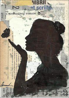 Kunst Poster Tinte Collage Mixed Miedia Zeichnung Kunst von rcolo