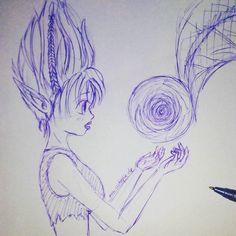 Eine #trollelfe im #Wald  #Kugelschreiber #Skizze  #troll #girl #anime #manga #cutiepix #cutiepixdesign #ballpen #sketch #draw #drawing #mädchen #animegirl #animedrawing #art #animeart #animedraw #drop #аниме #манга #ресунок #девушка #елф #анимедевушка #анимерисунок #анимеарт
