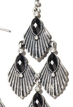 fall trend 2012: deco'd out  Sophisticated lines and faux rhinestones — these earrings are truly inspired from the deco architecture style