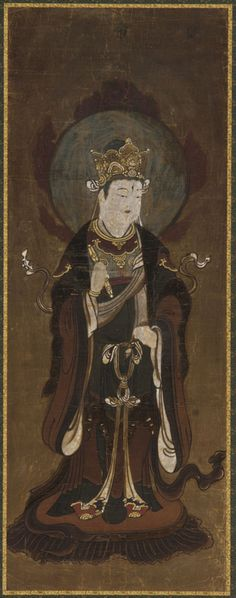 One of the twelve deva: Taishaku-ten (Indra) | late 15th-early 16th century | Muromachi period | Color and gold on paper | Japan | Gift of Charles Lang Freer | Freer Gallery of Art | F1907.665