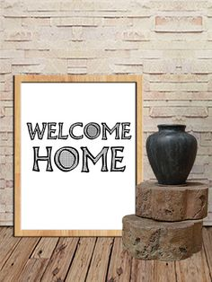 Welcome Home Print Wall Art Decor Poster by sweetdownload on Etsy