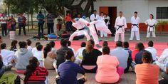 Excelente participación ciudadana en exhibición de karate