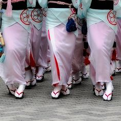 The Dance of the Fools or Awa Odori takes place during the Buddhist observance of O-bon, when the spirits of the dead are thought to return to their ancestral homes.  This dance has been around for at least 400 years.  click image for more information