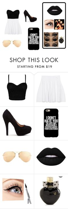"""""""Dark"""" by brennda-constantino on Polyvore featuring moda, Kenzo, Ray-Ban, Lime Crime, Luminess Air e Aéropostale"""