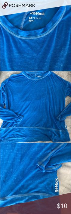 Royal blue reebok shirt Gently loved worn only a handful of times I love this high low shirt it's so soft and lightweight Reebok Tops