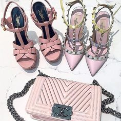 How to style your Chanel bags - valentino rockstud- http://www.justtrendygirls.com/how-to-style-your-chanel-bags/