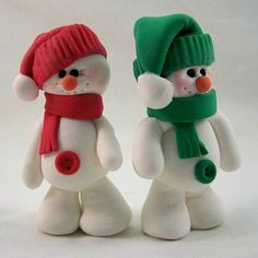 70 Easy And Simply Polymer Clay Ideas For Beginners – Air Dry Clay Easy Polymer Clay, Polymer Clay Ornaments, Polymer Clay Projects, Diy Clay, Snowman Ornaments, Clay Projects For Kids, Clay Crafts For Kids, Christmas Crafts, Air Dry Clay Crafts
