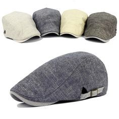 69bb1194c5d Men s Vintage Cotton Beret Cap Casual Sunshade Newsboy Forward Adjustable  Hats is hot sale on Newchic Mobile.