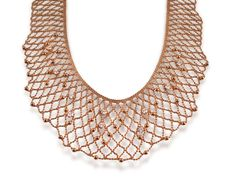 Alson Signature Collection Lattice Bead Necklace, Fashioned in 18K Rose Gold, Featuring Ten Round Diamonds =1.00ct Total Weight