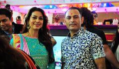 Kankotri owner Mr. Rakesh Amin with Bollywood actress Juhi Chawla at Vibrant Vivah 2014