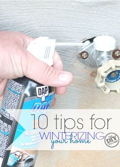 Ten great tips for winterizing your home.  Get your home ready for the winter months before it gets too cold. Adding this to my must do list! Home Improvement Loans, Home Improvement Projects, Home Projects, Home Renovation, Do It Yourself Home, Improve Yourself, Home Tools, Home Repairs, Winter House