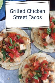 Taco Chicken Marinade, Marinated Grilled Chicken, Chicken Marinades, Chicken Tacos, Taco Ingredients, Recipe Tin, Street Tacos, Mexican Food Recipes, Ethnic Recipes