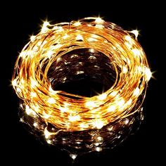 LE® 4 Pack 20 Micro Starry LED Copper Wire String Lights, Warm White, Extra Thin, 3.3ft/1m Waterproof Moon Lights, Battery Operated, Decorative Copper Wire Lights for DIY Wedding Centerpiece