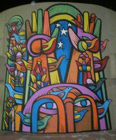Graffiti, Restaurant Design, Latina, Street Art, Mandala, Wall Art, Deco, Hostel, Drawings