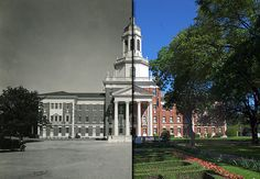 Baylor's Pat Neff Hall, 1939 and now. // Cool slider effect on the website -- click on the image to play with that and to see more of #Baylor University: Then & Now.