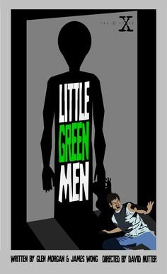 Little Green Men - Episode 25. Welcome to Season Two, folks! This episode is the first of the series to actually show a living alien. With that in mind, I wanted to showcase that moment in a big way. Also, Agent Mulder doesn't wear nearly enough tank tops in the show, so I'm glad I could include that in one of these posters.Remember, poster sales are currently on hold while we move the project to a new store! Thanks!
