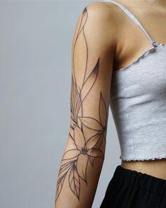 Tropisches Tattoo, Arm Band Tattoo, Body Art Tattoos, Hand Tattoos, Girl Tattoos, Tatoos, Chest Tattoo, Tebori Tattoo, Jagua Tattoo