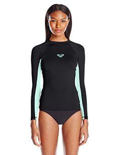 X-xyA Womens Surfing Top Multi Striped Patchwork Long Sleeve Rashguard Swimwear Bathing Suits,A,L