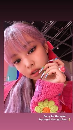 South Korean Girls, Korean Girl Groups, Idol Nails, Ice Cream Nails, Cream Outfits, Pastel Pink Hair, Blackpink Photos, Jennie Blackpink, 3d Nail Art