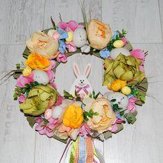 Wianek wielkanocny, wianek na drzwi, wianek Wielkanoc, dekoracja wiosenna, dekoracja na ścianę Wielkanoc, wianek kwiaty, wianek zajączek, wianek wielkanocny pastele,easter wreaths.