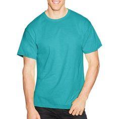 Hanes Big Men's Short Sleeve EcoSmart T-shirt, Size: 2XL, Blue