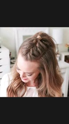 Easy Hairstyles For Long Hair, Braids For Long Hair, Girl Hairstyles, Wedding Hairstyles, Summer Braids, Hairstyle Ideas, Easy Braided Hairstyles, Style Hairstyle, Braided Updo