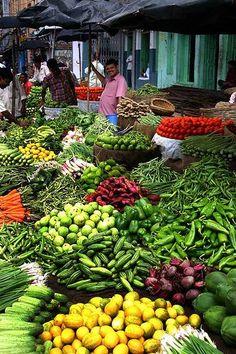 Vegetable Market in Assam , India