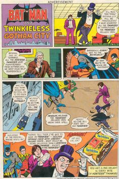 1970's Hostess Twinkies Ad - Batman never could have predicted a Twinkieless Planet Earth.