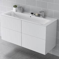 Tvättställ IDO Elegant 16432 120 cm Dubbla Blandarhål