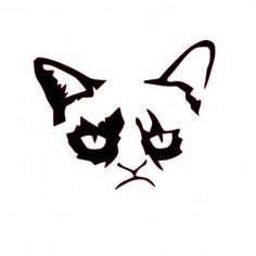 Grumpy Cat Pumpkin Stencil